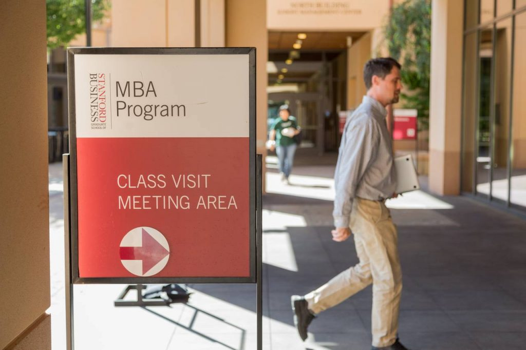 Stanford Graduate School of Business and the University of Pennsylvania's Wharton School were among the M.B.A. programs drawing more applications for classes entering in the fall of 2015 than a year earlier, according to the schools. PHOTO: JASON HENRY FOR THE WALL STREET JOURNAL